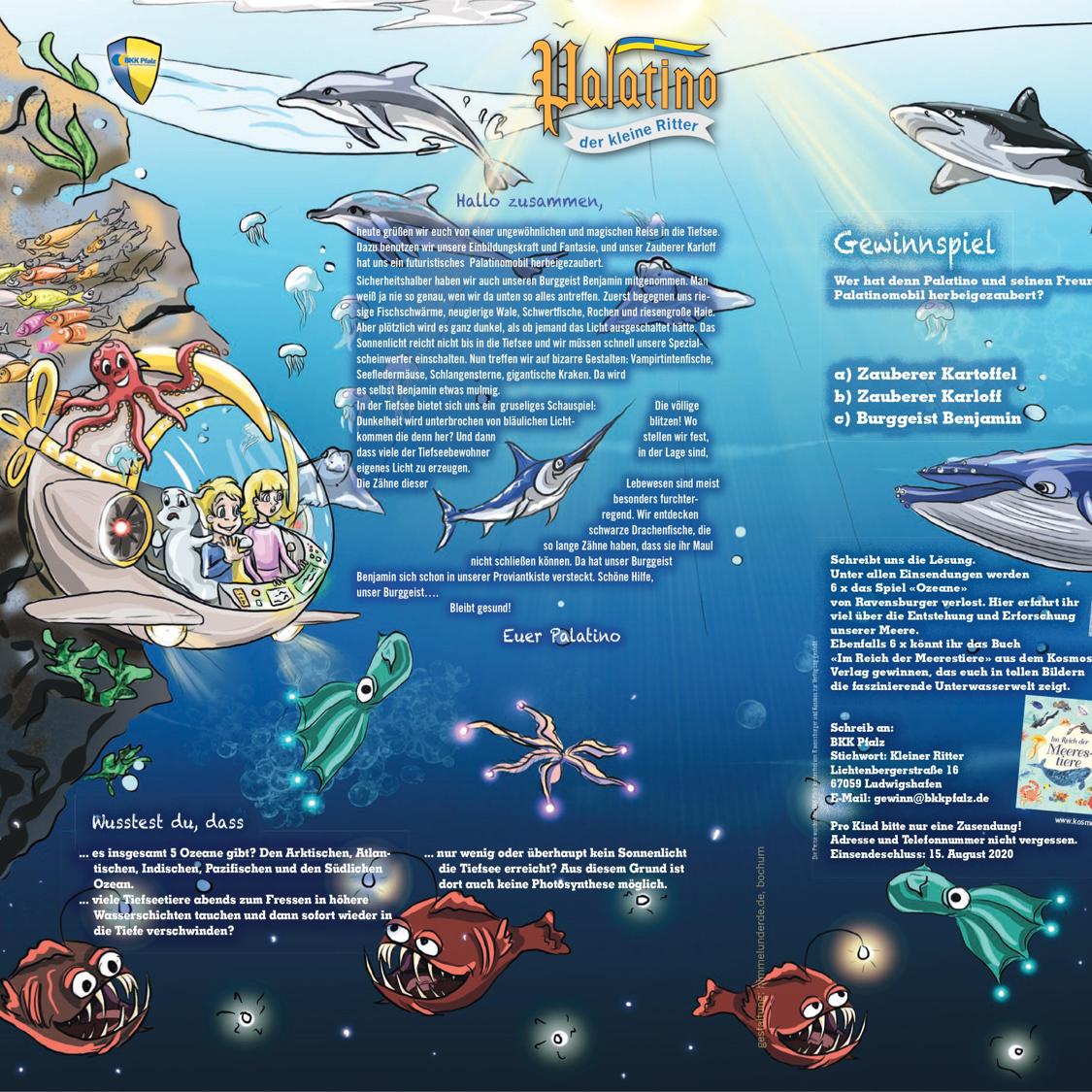 Bild: BKK Pfalz Magazin Kinderseiten mit Palatino