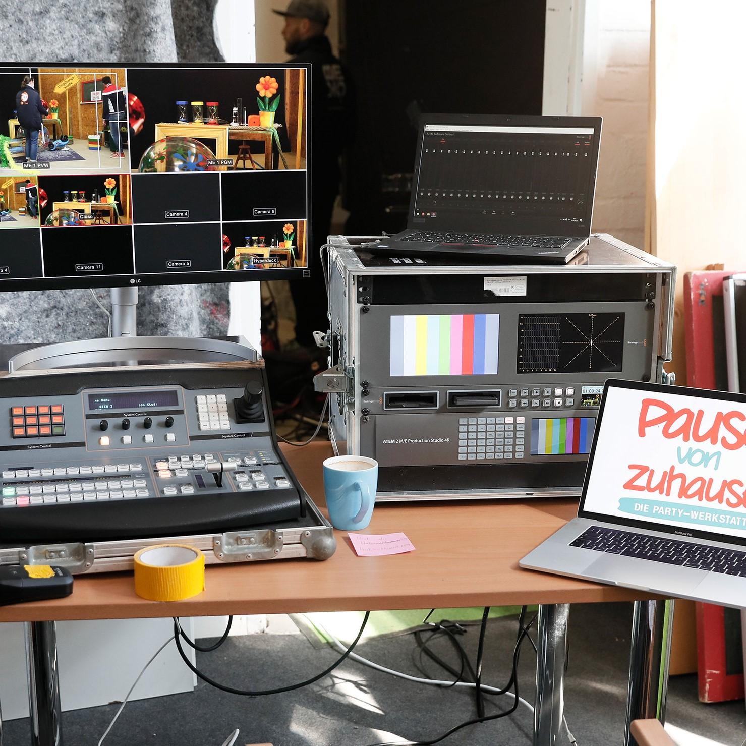 Bild: Technik Dreharbeiten Pause von Zuhause