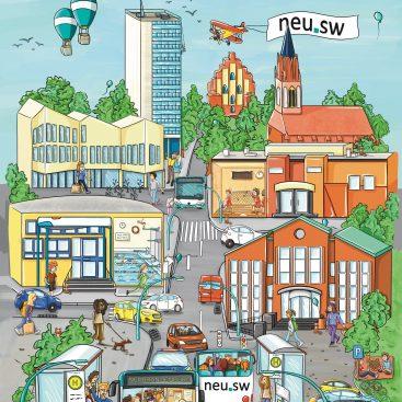 Bild: Wimmelbild Neubrandenburg
